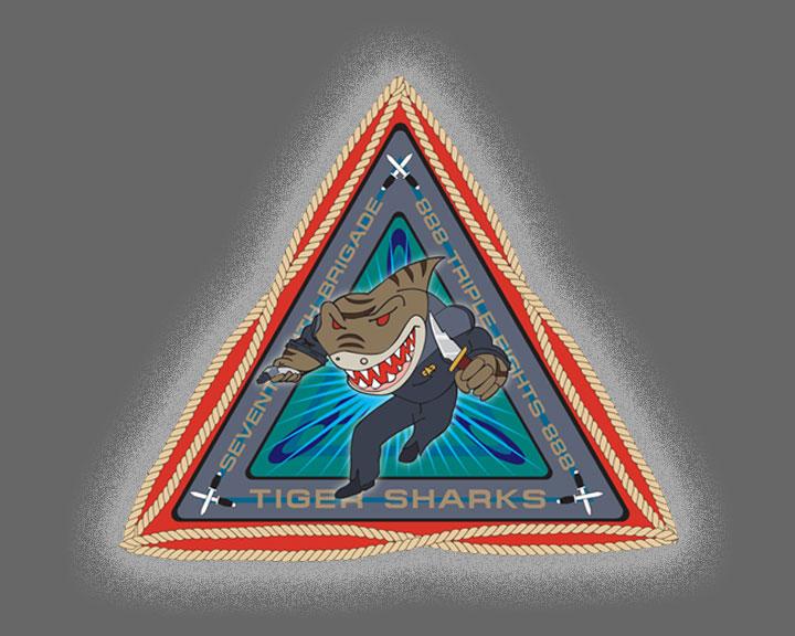 Tiger Shark Logo 888th Tiger Sharks Logo
